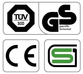 OXYGEN ELC Эллиптический эргометр - Обязательные сертификаты: европейский CE, немецкий GS TUV, японский SG